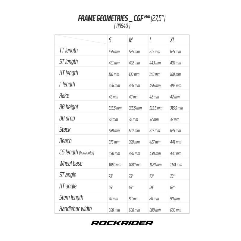 "MTB ROCKRIDER 540 GRIS 27,5"""