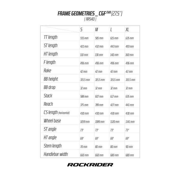 """BICICLETA DE MONTAÑA ROCKRIDER 540 GRIS 27,5"""""""