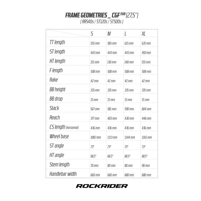 """MTB ROCKRIDER 540 S ROOD 27.5"""""""