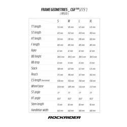 BICICLETA DE MONTAÑA MTB ROCKRIDER 520 NEGRO