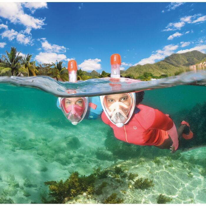 浮潛面鏡Easybreath-珊瑚紅