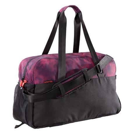 76b86154f0 Cardio Fitness Bag 30-Litre - Black Burgundy