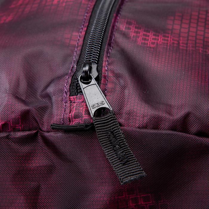 Bolsa fitness cardio-training plegable 30 Litros negro y burdeos