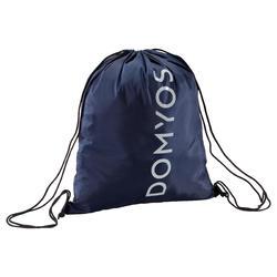 Mochila de cuerda Cardio Fitness Domyos calzado azul marino gris