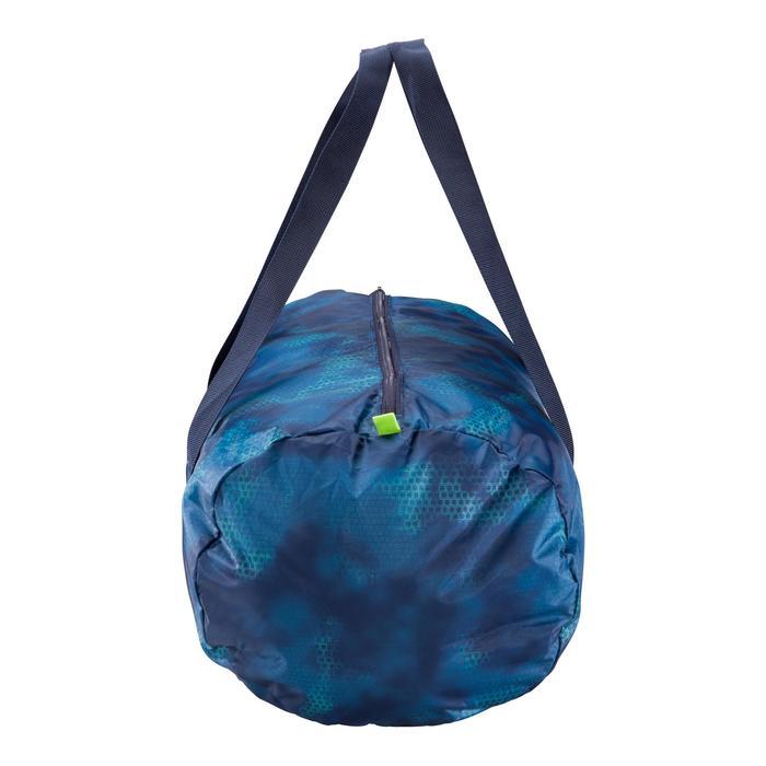 Bolsa fitness cardio-training plegable 30 Litros verde y azul