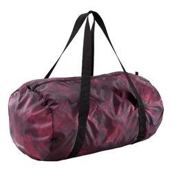 Opvouwbare tas voor fitness en cardiotraining 30 liter zwart en bordeaux