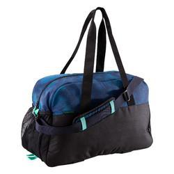 Bolsa fitness cardio-training 30 Litros negro azul y verde
