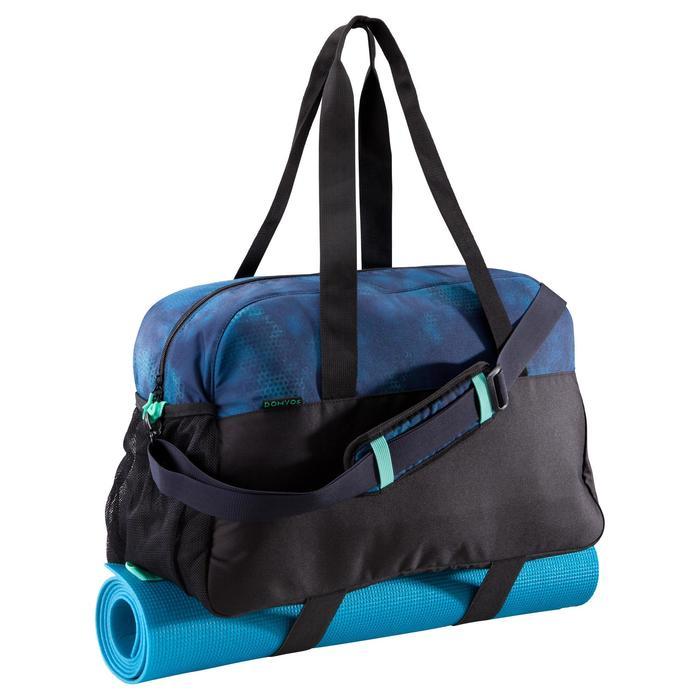 Fitnesstas cardiotraining 30 liter zwart blauw en groen