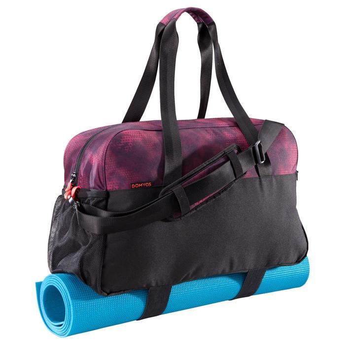 Fitnesstas cardiotraining 30 liter zwart en bordeaux