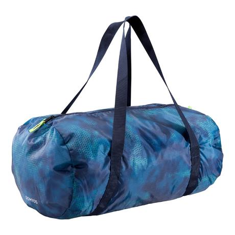 725535a538 Sac fitness cardio-training pliable 30L vert et bleu | Domyos by Decathlon
