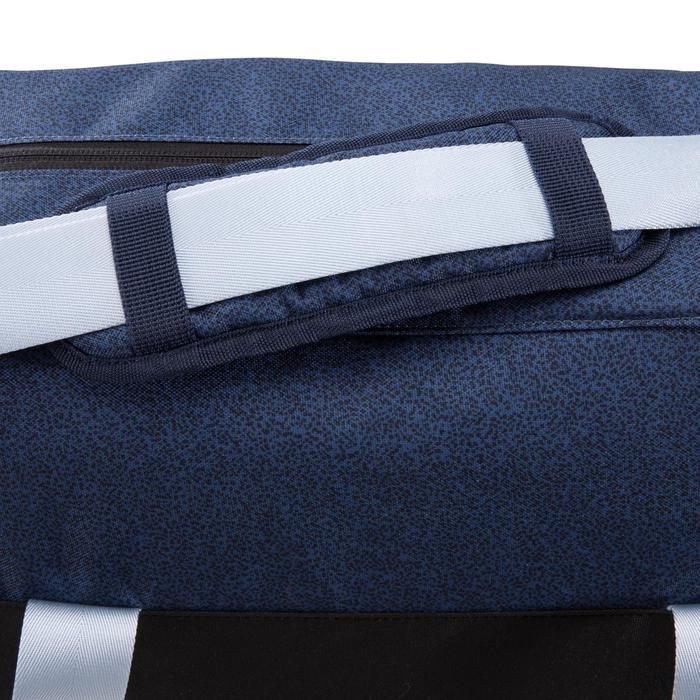 Tas voor fitness en cardiotraining 30 liter zwart blauw en grijs