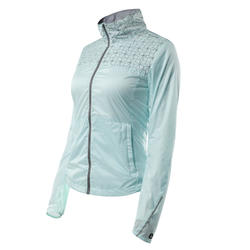 500 Women's City Cycling Windproof Jacket - Mint Grey