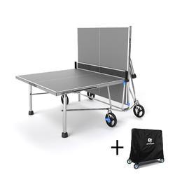 Tafeltennistafel outdoor PPT 900 (FT860) Limited grijs met hoes