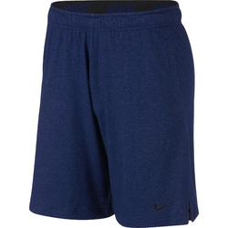Herenshort Nike 500 voor gym en stretching gemêleerd blauw.