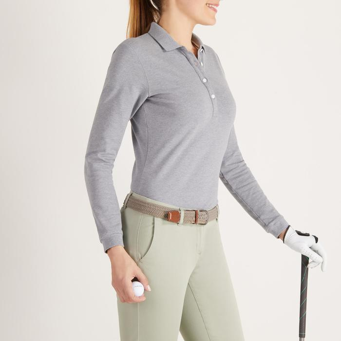 POLO MANCHES LONGUES GOLF FEMME 500 - 1488366