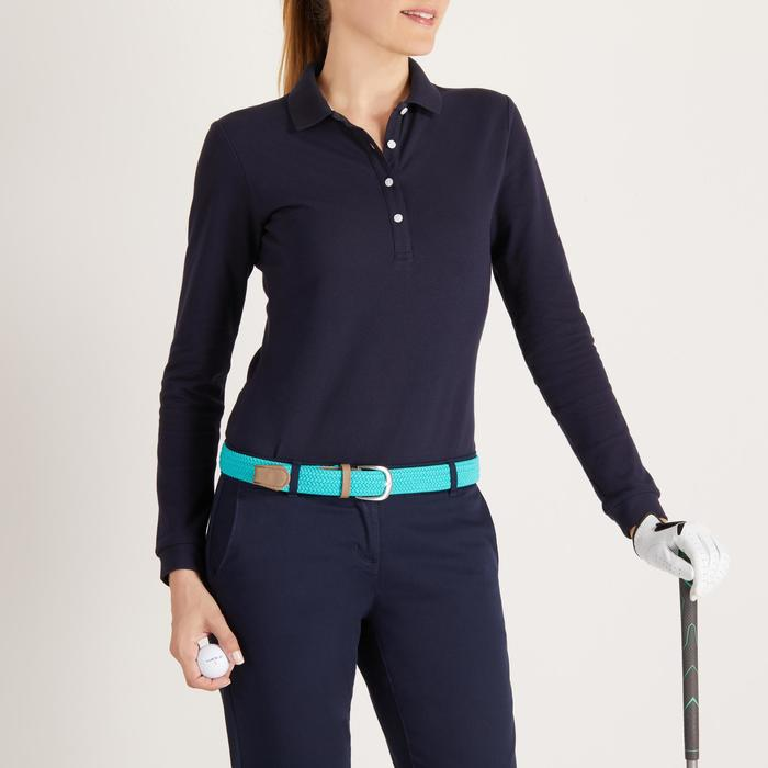 POLO MANCHES LONGUES GOLF FEMME 500 - 1488369