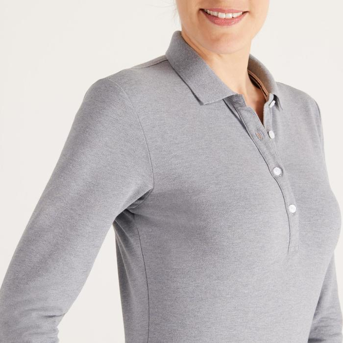 POLO MANCHES LONGUES GOLF FEMME 500 - 1488371