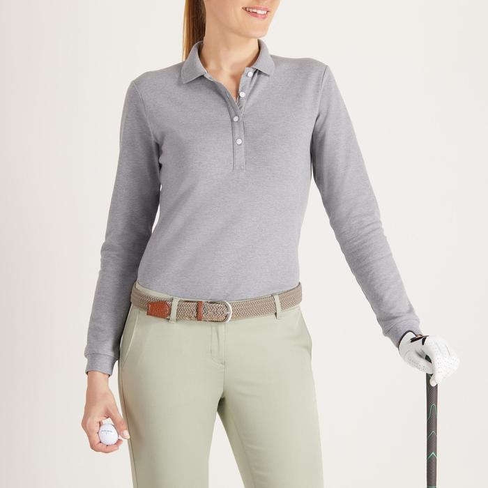 POLO MANCHES LONGUES GOLF FEMME 500 - 1488375