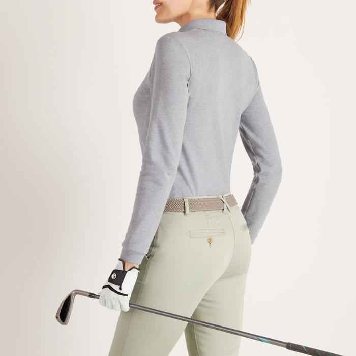 Golf Poloshirt langarm Damen grau meliert