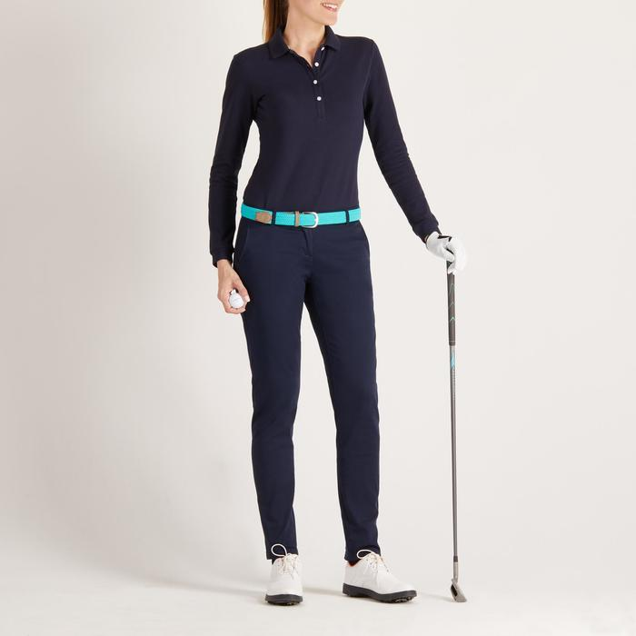 POLO MANCHES LONGUES GOLF FEMME 500 - 1488381