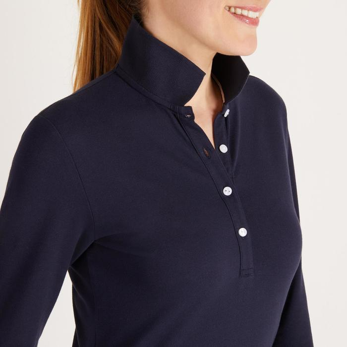 POLO MANCHES LONGUES GOLF FEMME 500 - 1488385