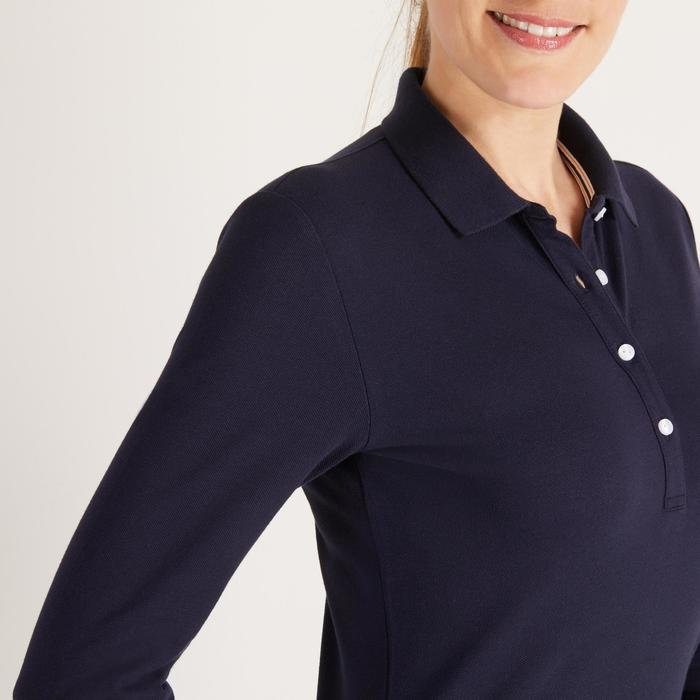 POLO MANCHES LONGUES GOLF FEMME 500 - 1488390