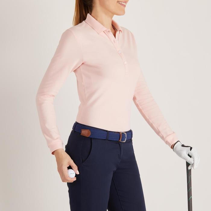 POLO MANCHES LONGUES GOLF FEMME 500 - 1488393