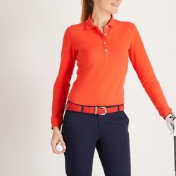 Golfpolo met lange mouwen voor dames rood