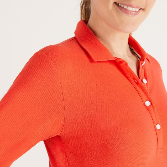 POLO MANCHES LONGUES GOLF FEMME 500 - 1488402