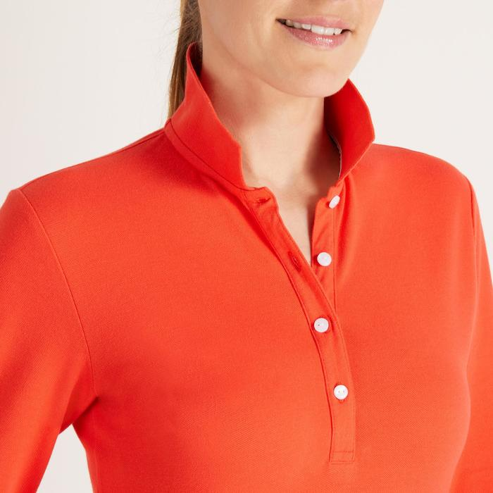 POLO MANCHES LONGUES GOLF FEMME 500 - 1488408