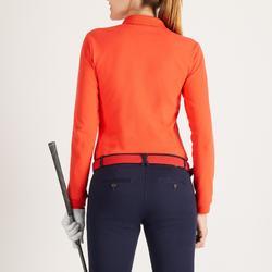 Golf Poloshirt Langarm Damen rot