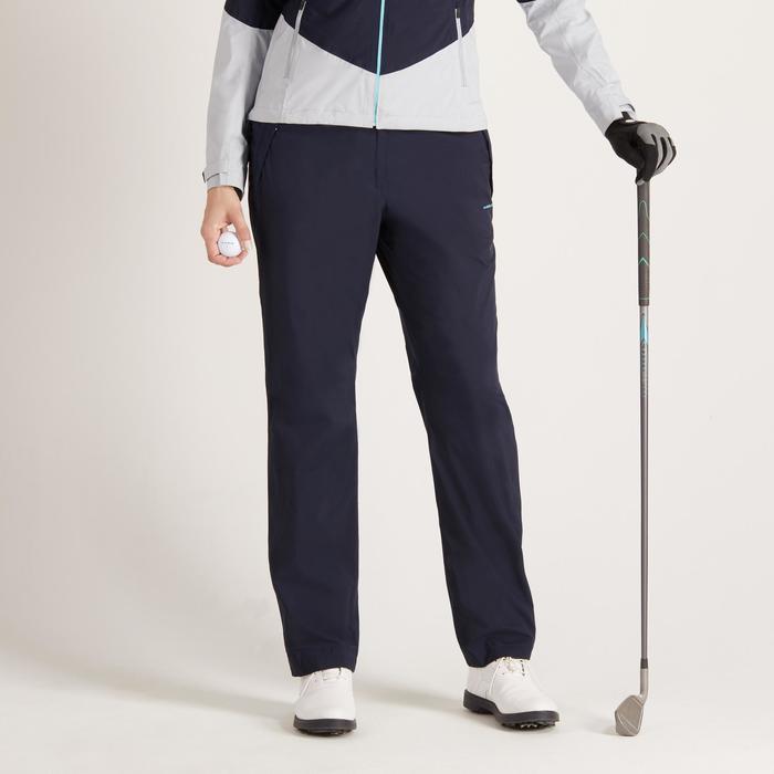 Dames regenbroek 900 voor golf marineblauw - 1488419