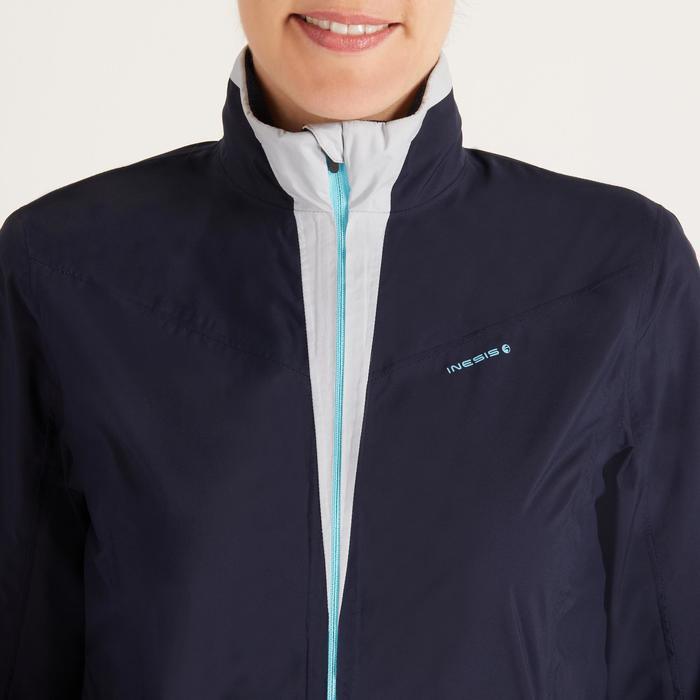 Dames regenjasje 900 voor golf marineblauw en grijs