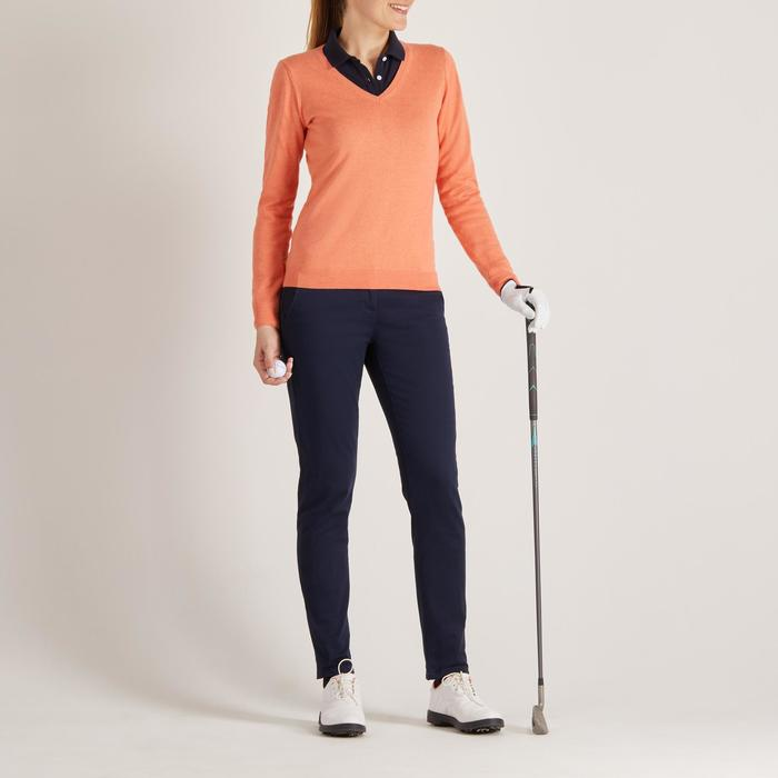 Golf Pullover Damen orange