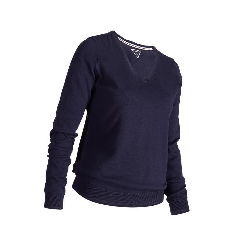 Women's Golf Pullover 500 - Navy Blue