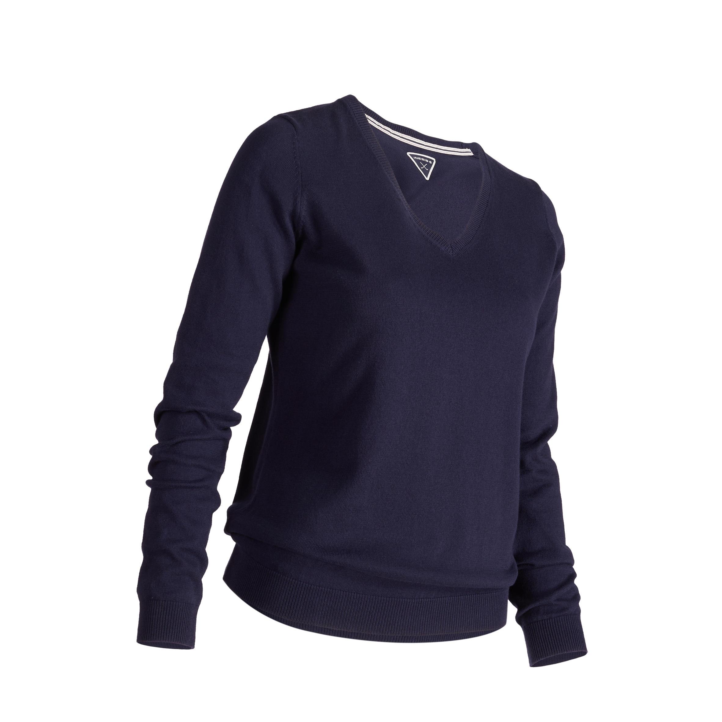 Women's Golf Sweater 500 - Navy Blue