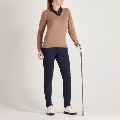 Women's Golf Pullover - Beige