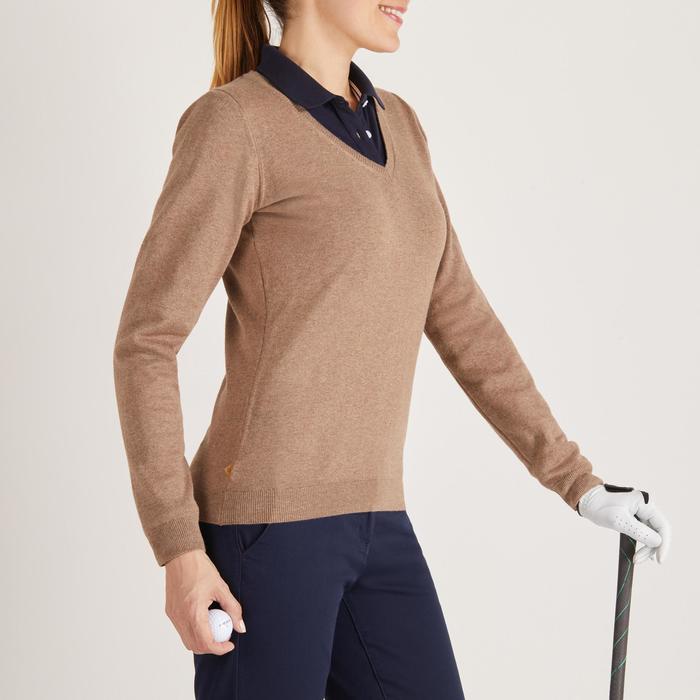 Golftrui voor dames zacht weer beige