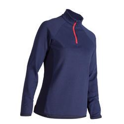 女款高爾夫立領針織衫-海軍藍