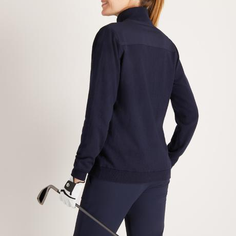 pull coupe vent golf temps froid pour femme bleu marine. Black Bedroom Furniture Sets. Home Design Ideas