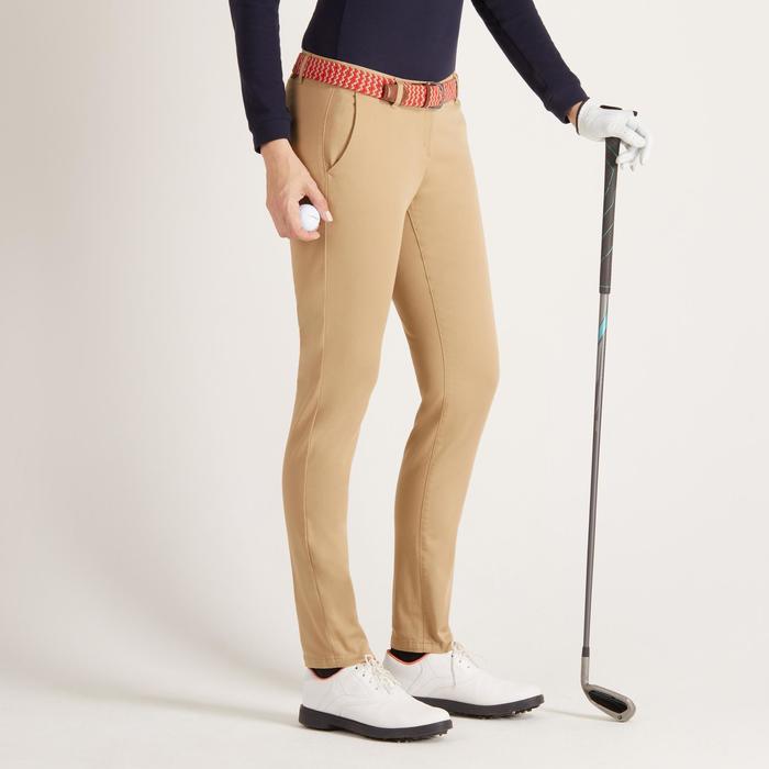 Golfbroek voor dames zacht weer beige