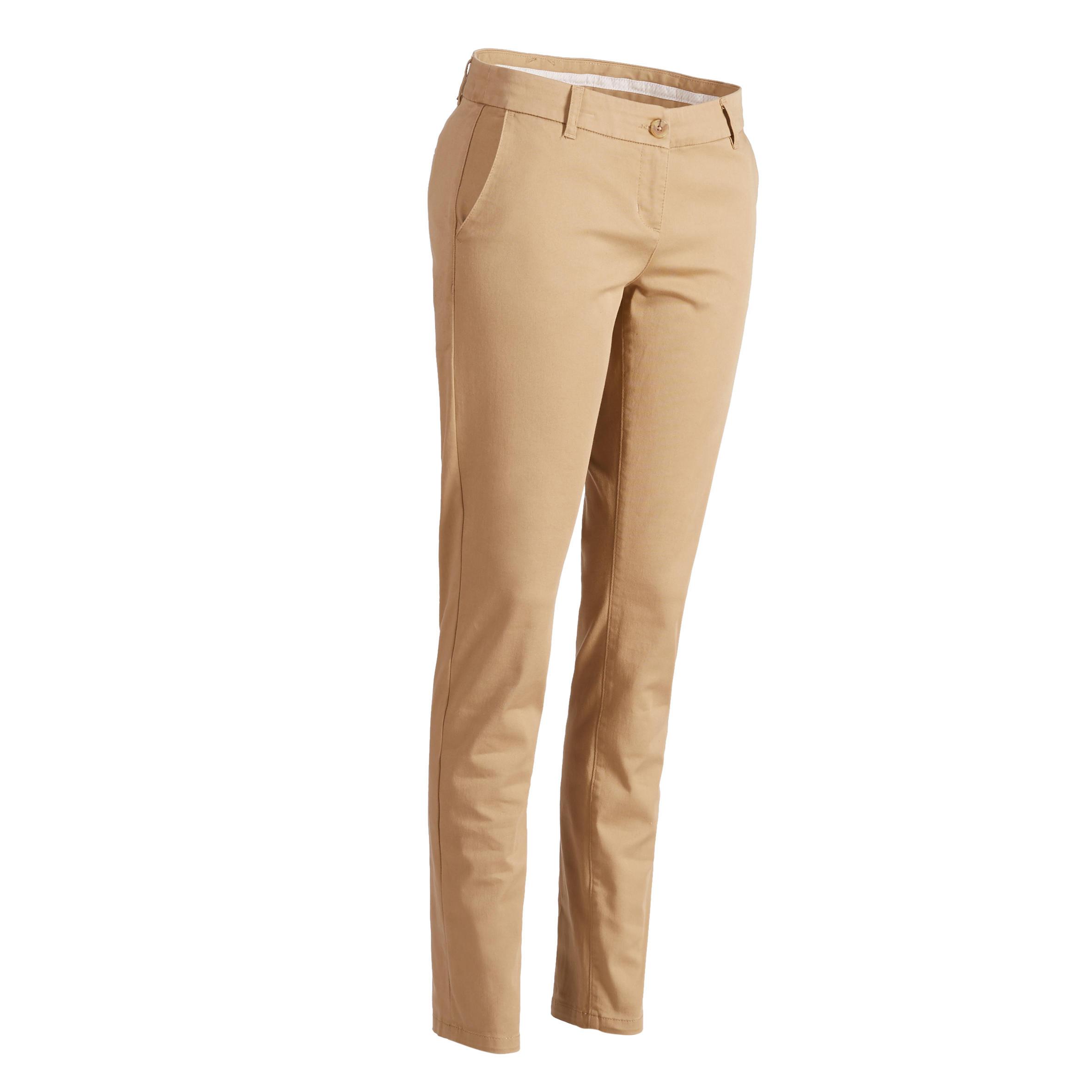 Women's Golf Pants 500 - Beige