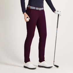 Golfhose Damen milde Temperaturen dunkelviolett