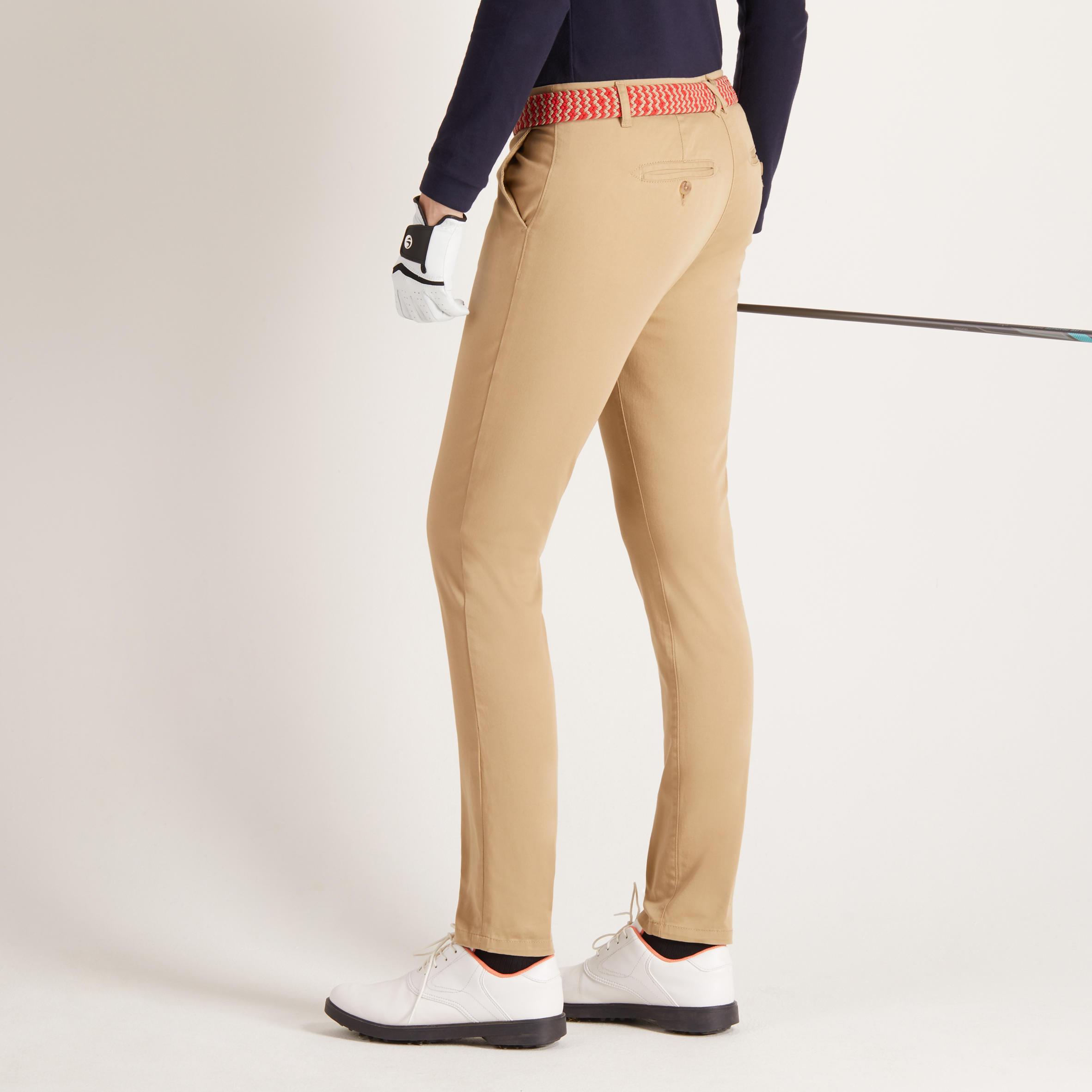 Women Golf Trousers Beige
