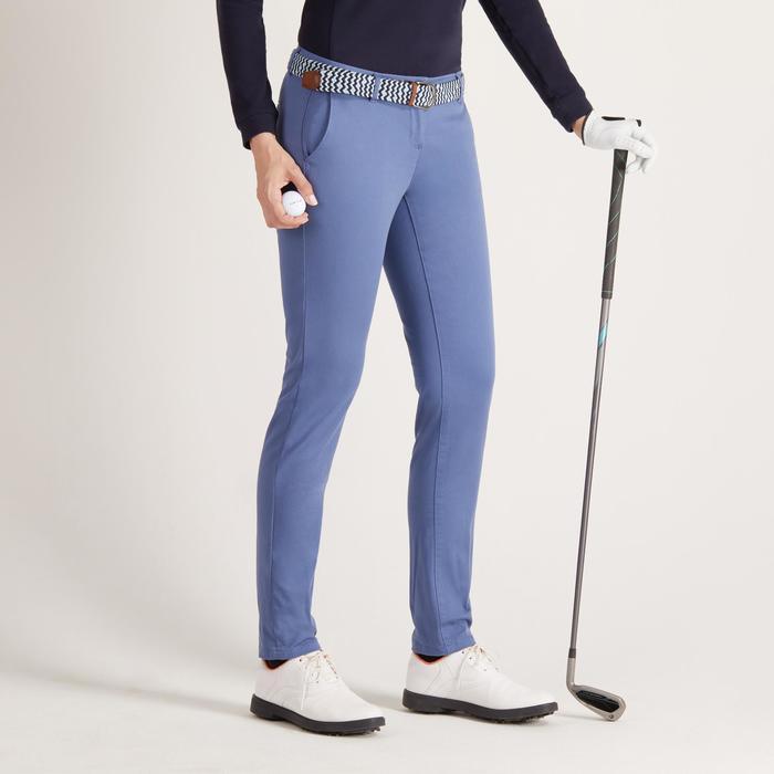 Golfbroek voor dames zacht weer blauw