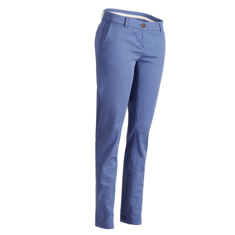 WOMENS MILD WEATHER GOLF CLOTHING Golf - W MW Trousers - Blue INESIS - Golf Clothing
