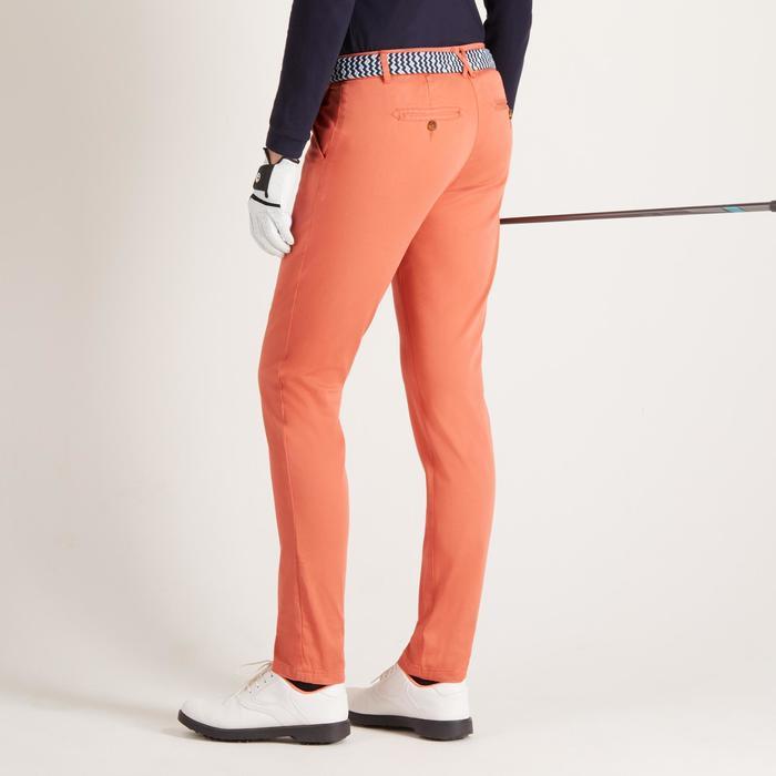 Golfbroek voor dames, zacht weer, oranje