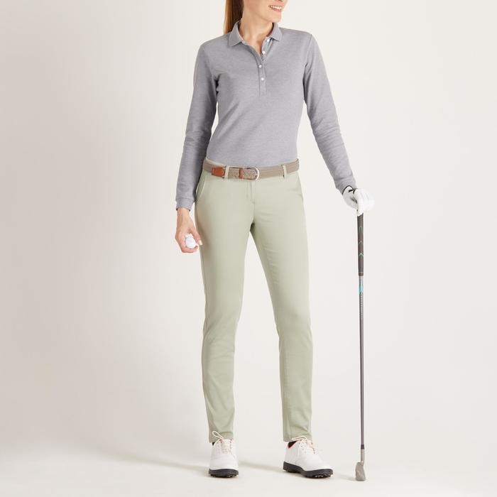 Golfbroek voor dames, zacht weer, lichtgroen
