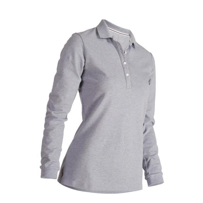 POLO MANCHES LONGUES GOLF FEMME 500 - 1488634