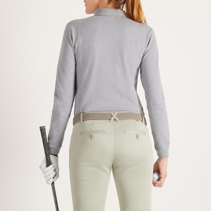 POLO MANCHES LONGUES GOLF GRIS CHINE FEMME